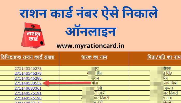 ration-card-number-kaise-nikale